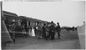 Photograph - Dignitaries and troops