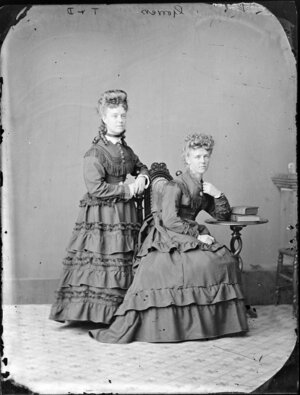 The two [Miss?] Gorrers - Photograph taken by Thompson & Daley