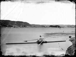 Sculler on the Whanganui River, Wanganui