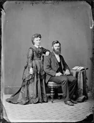 Mr and Mrs C Small - Photograph taken by Thompson & Daley of Wanganui