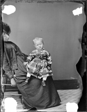 Walls infant-Photograph taken by Thompson & Daley of Wanganui