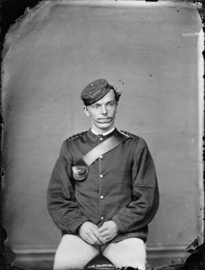 Mr Black, in military uniform