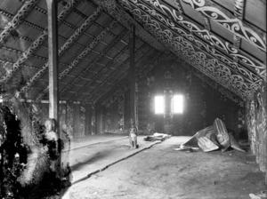 Interior of Tokanganui-A-Noho meeting house in Te Kuiti