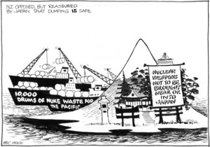 Heath, Eric Walmsley, 1923- :NZ opposed, but reassured by Japan that dumping IS safe. [27 August 1980].