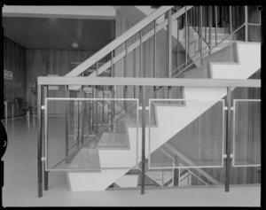Interior, staircase, Masterton Hospital, Wairarapa