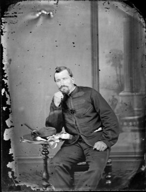 Mr Hiscox, in military uniform