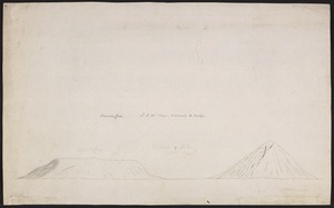 Ellis, William Wade, d 1785 :Amatoafoa. S. S. W. view. Distant 8 miles. [May 1777]