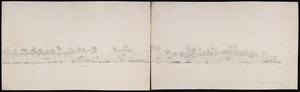 Ellis, William Wade, d 1785 :[Profile of Nomuka, Tonga, 1778? Outrigger canoe; walrus]