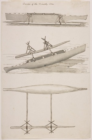 Ellis, William Wade, d 1785 :Canoes of the Friendly Isles [Between May and July 1777]