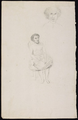 Ellis, William Wade, d 1785 :[Portraits of two Tahitians. 1777]