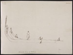 Ellis, William Wade, d 1785 :A double canoe of Otaheite. [1777]