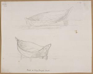 Ellis, William Wade, d 1785 :Boats of King George's Sound [April 1778]