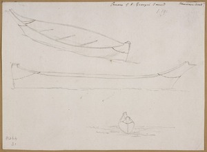 Ellis, William Wade, d 1785 :Canoes of K[ing] George's Sound [April 1778]