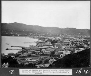 View of part of Wellington showing the corner of Willis and Manners Streets and the surrounding area