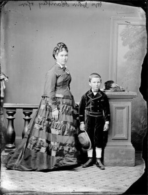 Mrs John Handley and son
