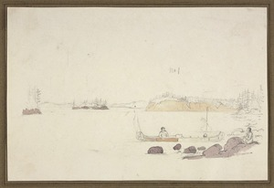 [Hood, Robert] ca 1790-1821 :[Morgans Rocks, upper part of Hill River, Canada] 19 September 1819
