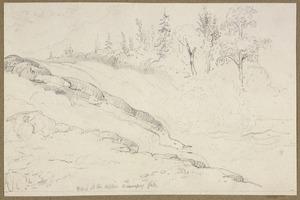 [Hood, Robert] ca 1790-1821 :Part of the Upper Winnipeg Falls. [Trout Fall. 1819]