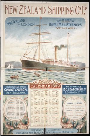 Presants, Philip Robert, 1867-1942 :New Zealand Shipping Co. Ltd. Calendar 1899.