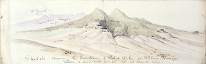 [Warre, Henry James] 1819-1898 :Sketch showing the positions of rebel pahs on Patua Ranges taken and destroyed on 22nd, 23rd, 25th March 1864