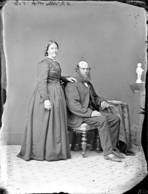 Mr and Mrs R McAlley - Photograph taken by Thompson & Daley of Wanganui