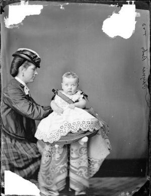 Mrs Payne and her baby - Photograph taken by Thompson & Daley