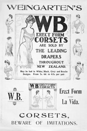Weingarten's WB erect form corsets... 1905