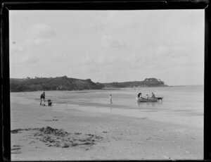 Looking across to Castor Bay, from a beach at Takapuna, Auckland