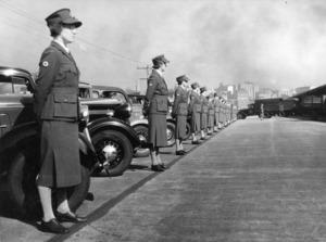 Auckland Star (Photographer) : Women Red Cross transport drivers, Auckland