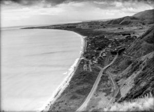 View overlooking Paekakariki, showing the coastline