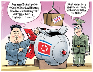 """""""And now I shall point this missile at South Korea..."""""""