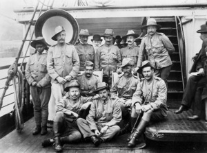 Group of soldiers departing for the South African War