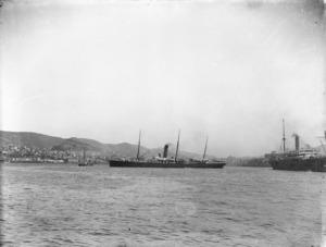 Dickie, John, 1869-1942: The ship Maitai in Wellington Harbour