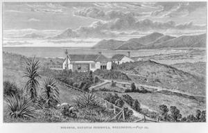 Crawford, James Coutts, 1817-1889 :Miramar, Hataitai Peninsula, Wellington. [London, 1880]