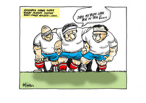 'Research shows Super Rugby players suffer body image anxiety..'