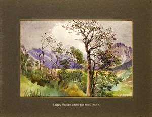 Holmes, Katherine McLean, 1849-1925 :Seely Range from the Hermitage. [1903?].