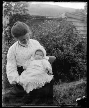 Amy Kirk with a baby