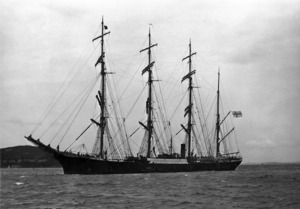 The barque Pamir entering Auckland Harbour