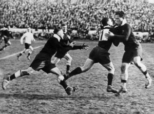 Rugby league players during a test match between New Zealand and Australia, in Auckland