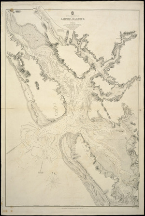 Kaipara Harbour [cartographic material] / surveyed by Cmdr B. Drury and the officers of H.M.S. Pandora, 1852.