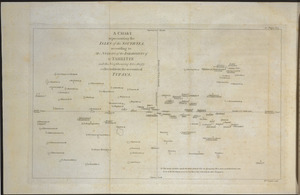 A chart representing the isles of the South-Sea, according to the notions of the inhabitants of O-Taheitee and the neighbouring isles, chiefly collected from the accounts of Tupaya / Wm. Faden sculp. [London, G. Robinson, 1778].