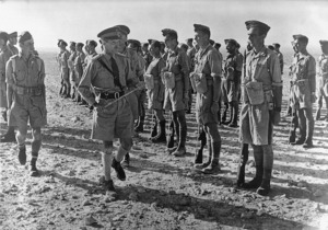 Lieutenant General Bernard Law Montgomery inspecting the 5th Infantry Brigade, Egypt