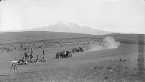 Artillery target practice at Waiouru Army Training Camp