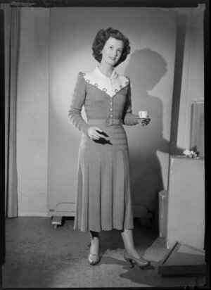 Woman modelling knitted dress