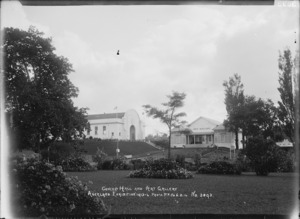 View of the Concert Hall and Art Gallery, Auckland Exhibition, Auckland Domain