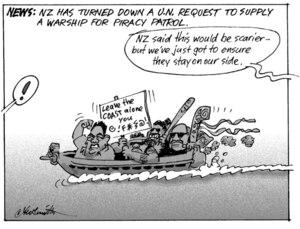 Smith, Ashley W, 1948-: NEWS; NZ has turned down a U.N. request to supply a warship for piracy patrol. 23 March 2011