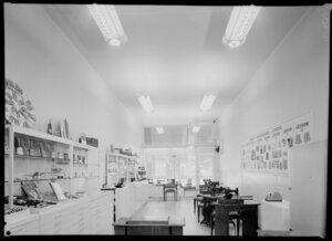 Interior of Singer sewing machine shop, Willis St., Wellington
