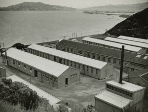 Buildings of Kaiwharawhara Military Camp on the Wellington Harbour