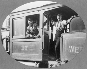 Engine driver and stoker on board a locomotive