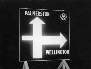 Palmerston Wellington road sign