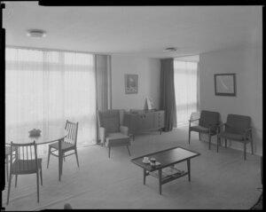 Aston Towers interior, living room area